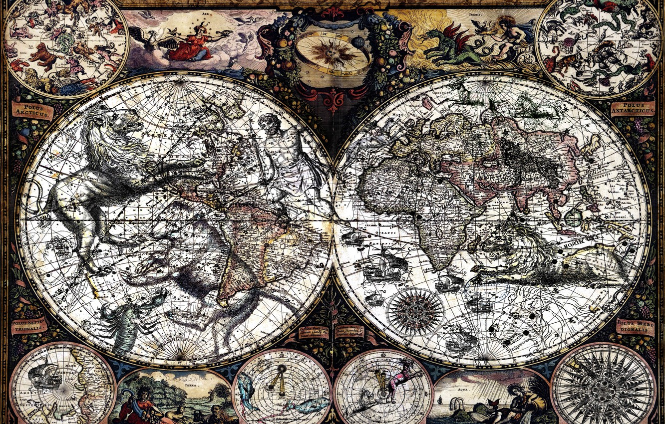 Wallpaper Style, Background, The World, Figure, Map