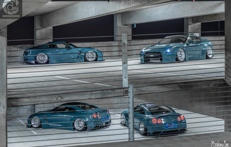 Photo wallpaper GTR, Nissan, Skyline, StanceNation, FuckasCar, GTR35