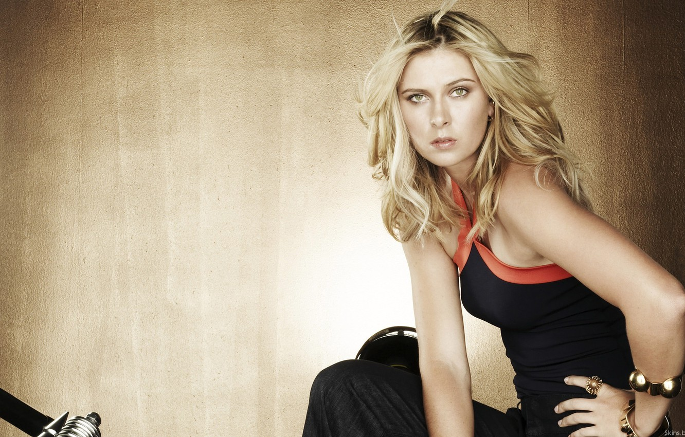 Photo wallpaper blonde, tennis player, bracelet, Maria, Sharapova