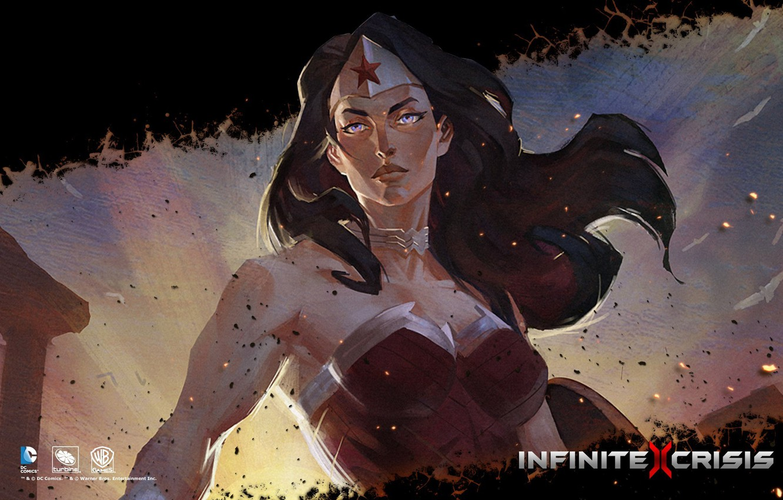 Photo wallpaper DC comics, Warner Games, Infinite Crisis, Wonder Women