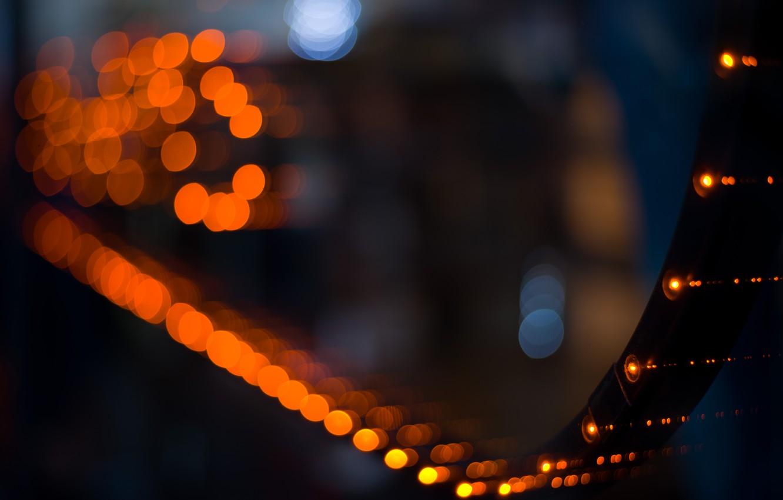 Photo wallpaper macro, light, night, bokeh