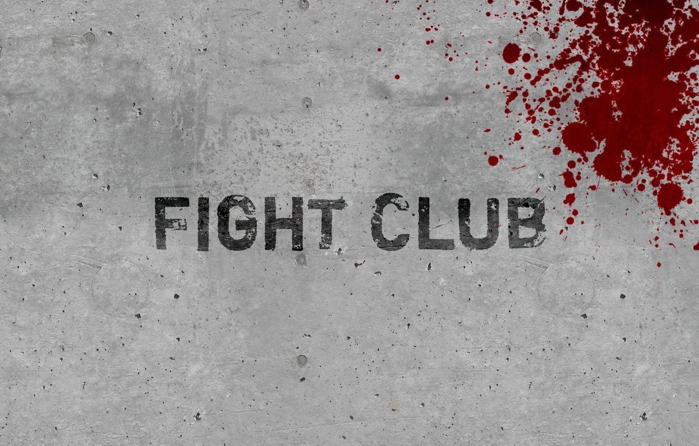 Photo wallpaper wall, blood, minimalism, fight club, fight club