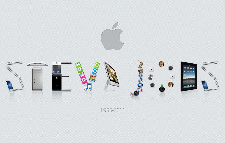 Photo wallpaper Wallpaper, apple, Steve jobs, 1955-2011 year
