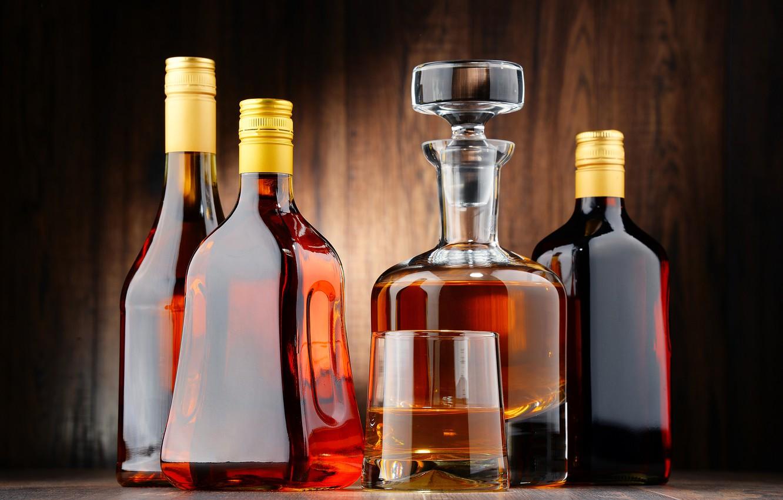 Photo wallpaper bottle, alcohol, cognac, whiskey, whiskey