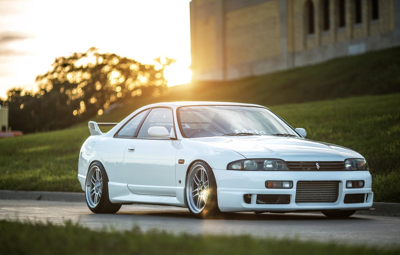 Photo wallpaper Nissan, white, skyline, jdm, tuning