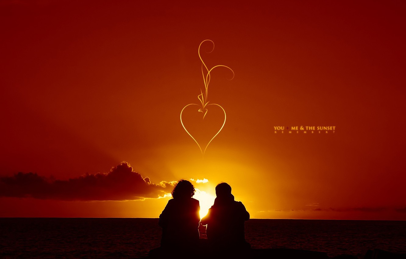 Wallpaper Sunset Pair Lovers Images For Desktop Section