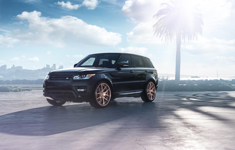 Photo wallpaper Land Rover, Range Rover, Car, Front, Sport, SUV, Wheels, Before, Garde