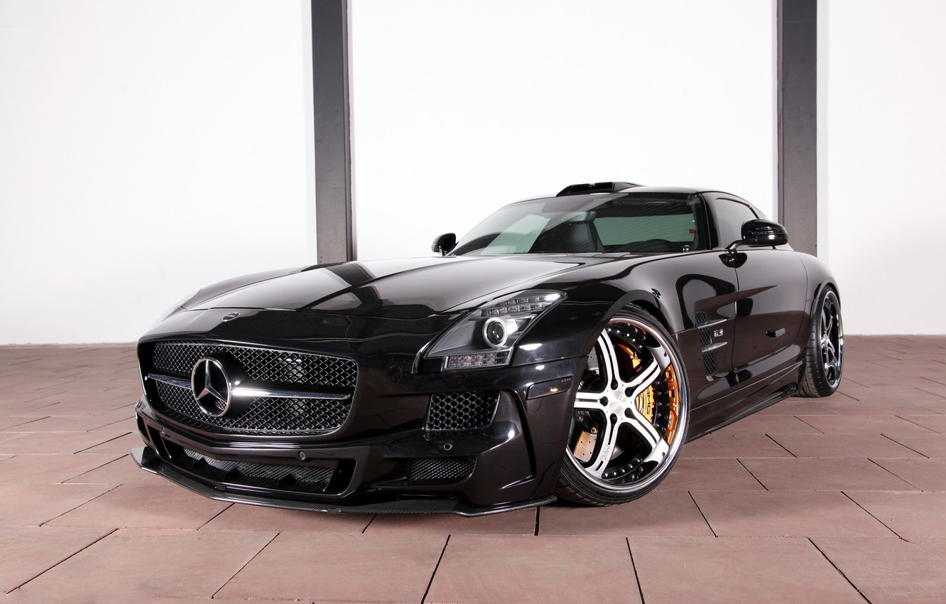 Photo wallpaper tuning, Mercedes-Benz, drives, Mercedes, AMG, Germany, Coupe, SLS, the front, MEC Design, Tuner, V-8