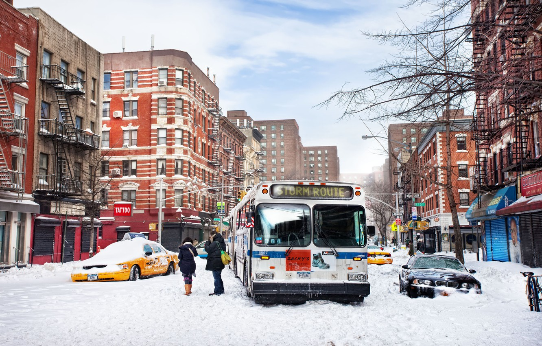 Photo wallpaper winter, snow, new York, winter, new york, snow, usa, nyc, East Village