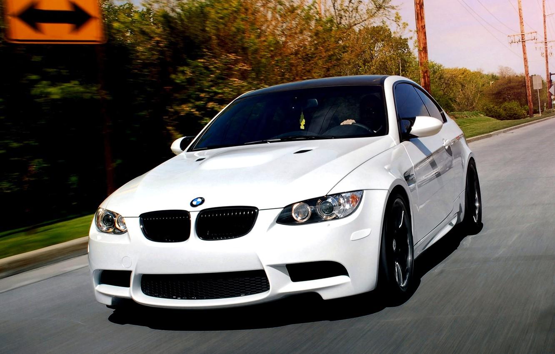Photo wallpaper car, movement, Wallpaper, tuning, bmw, BMW, coupe, speed, white, white, car, tuning, coupe, wallpapers, speed, …