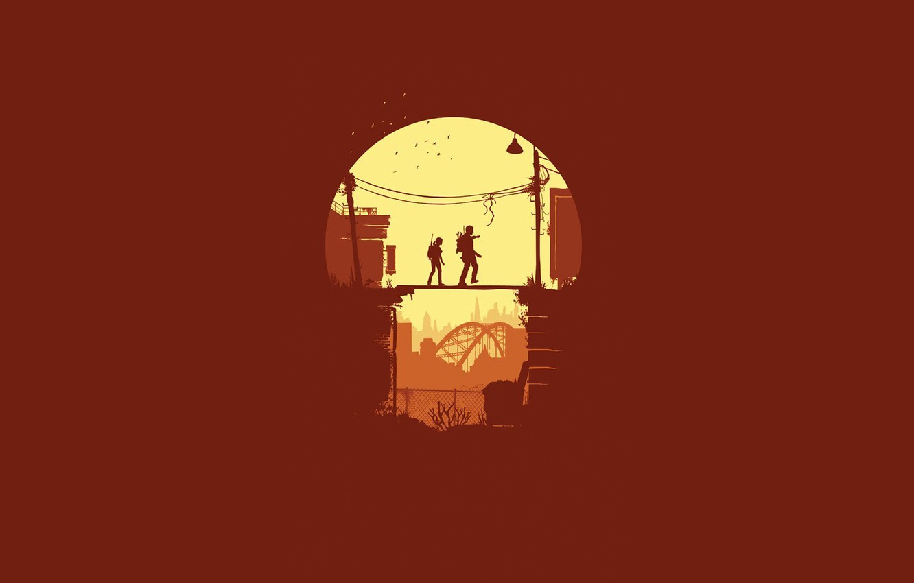 Photo wallpaper girl, bridge, minimalism, male, The Last of Us, Naughty Dog, Some of us, Sony Computer …