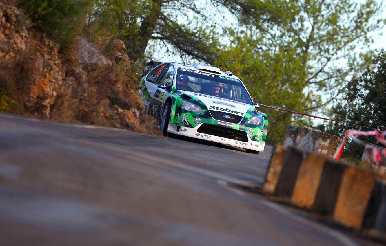 Photo wallpaper Ford, Auto, Machine, Turn, Ford, Focus, WRC, Rally, Rally, Focus