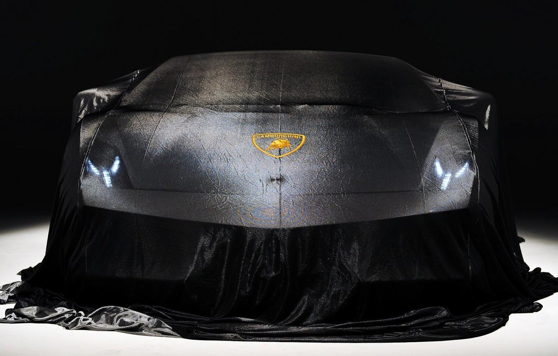 Photo wallpaper car, lights, black, front, Lamborghini Gallardo, Show, lp570-4 superleggera