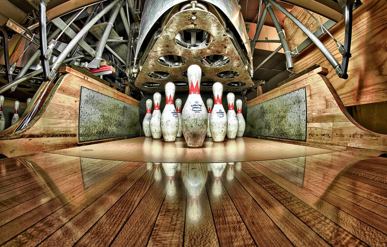 Photo wallpaper sport, skittles, bowling