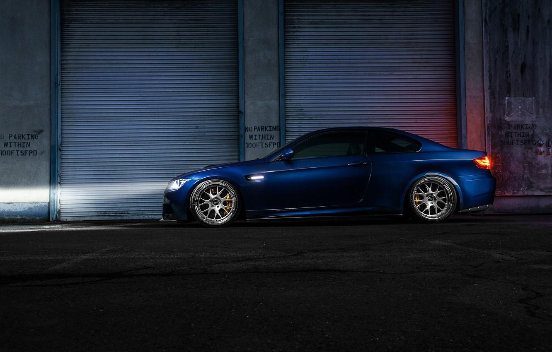 Photo wallpaper car, night, BMW, car, bmw m3, rechange