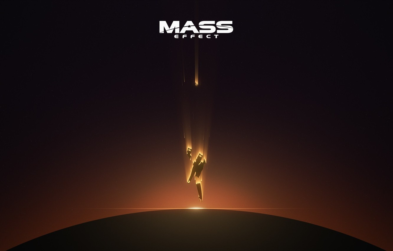 Photo wallpaper space, Mass Effect, falling, destroyed normandy, commander shepard