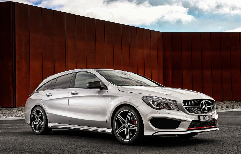 Photo wallpaper Mercedes-Benz, Mercedes, Sport, universal, Shooting Brake, AU-spec, 4MATIC, 2015, X117, CLA 250