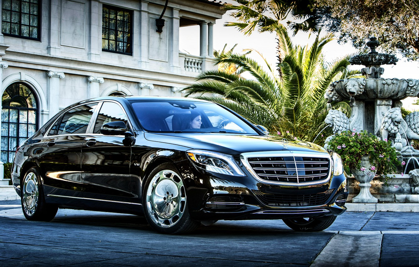 Photo wallpaper Mercedes, Maybach, Mercedes, Maybach, US-spec, X222, 2015, S 600