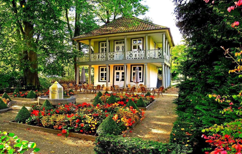 Wallpaper flowers, house, garden images for desktop, section