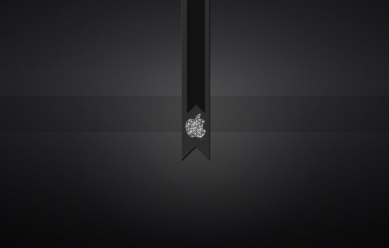 Photo wallpaper icon, apple, black background, Texture