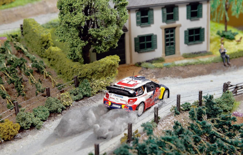 Photo wallpaper House, Machine, Model, The building, Citroen, DS3, WRC, Rally, Sebastien Loeb, Layout, Diorama