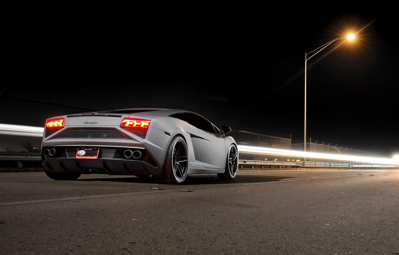 Photo wallpaper Lamborghini, Gallardo, LP 570-4, Supercar, Rear, Corse, Squadra
