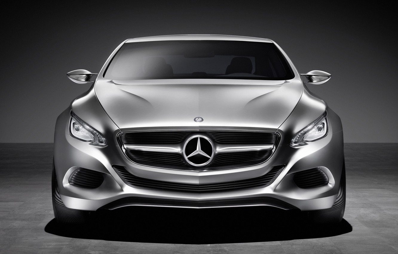 Photo wallpaper Auto, concept, Mercedes Benz, The view from the front, f800