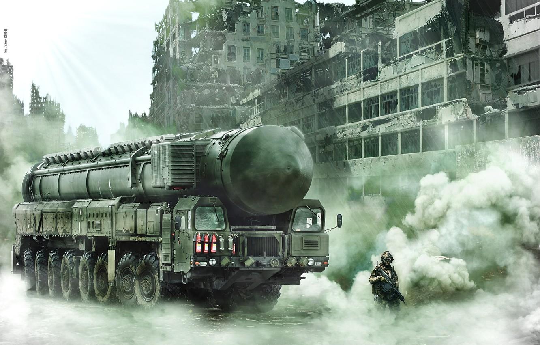 Photo wallpaper future, fiction, war, soldiers, postapokalipsis, Topol m