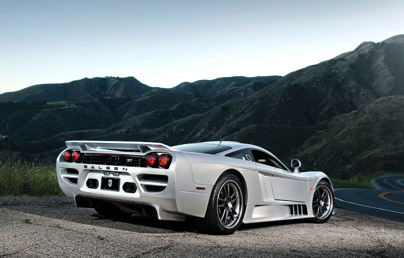 Photo wallpaper car, auto, Wallpaper, Saleen, wallpapers, back, silvery