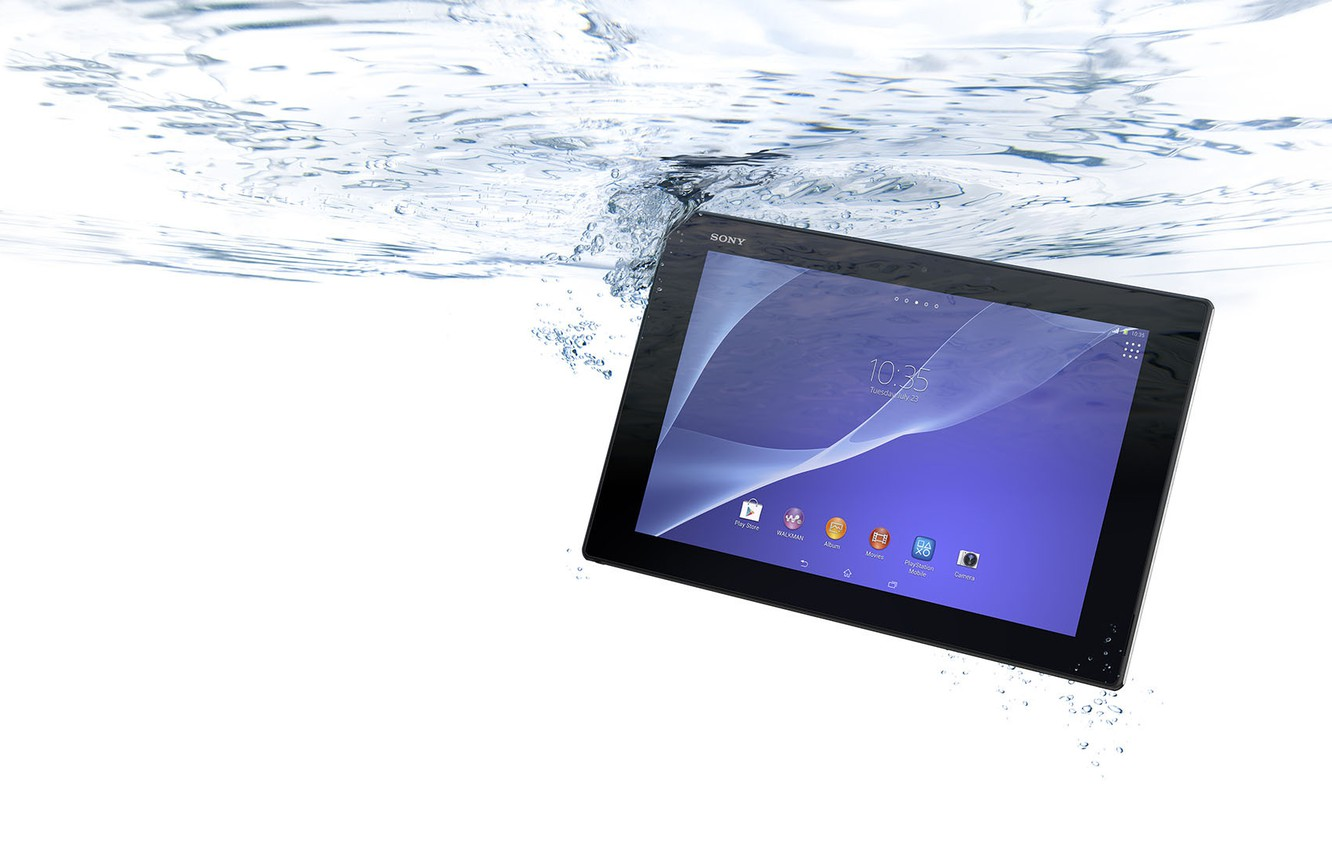 Photo wallpaper Water, Bubbles, Sony, Water, Tablet, Xperia, Tablet, Tablet