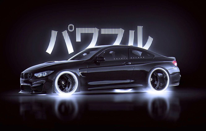 Photo wallpaper BMW, Japan, Car, Black, Style, by Khyzyl Saleem, M4