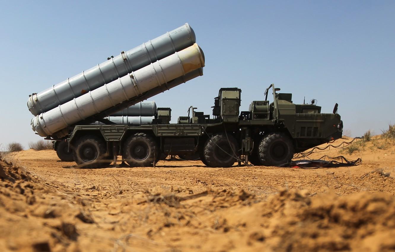 "Photo wallpaper system, S-400, anti-aircraft, Russian, rocket, range, large and medium, ""Triumph"""