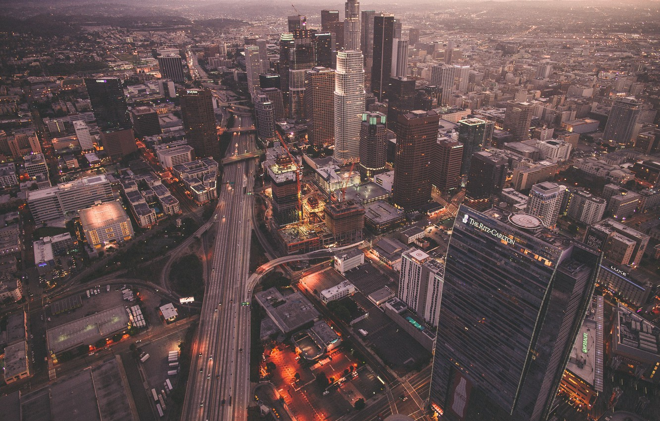 Photo wallpaper the city, home, USA, skyscrapers, Los Angeles