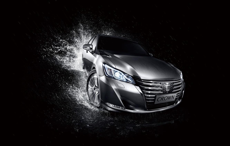 Photo wallpaper Toyota, black background, Toyota, Crown, crown