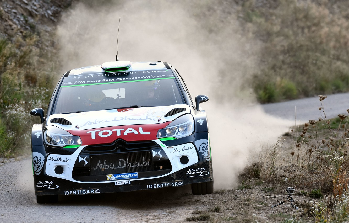 Photo wallpaper Dust, Citroen, DS3, WRC, Rally, The front