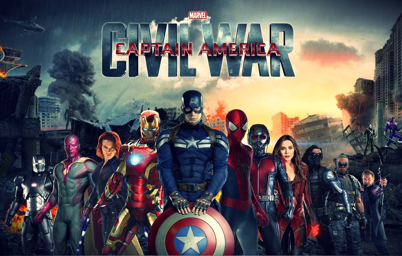 Wallpaper Falcon Captain America Spider Man Black Widow Ant Man Hawkeye Scarlet Witch Vision Warrior Iron Man Captain America Civil War Baron Zemo Winter Solider Images For Desktop Section Filmy Download