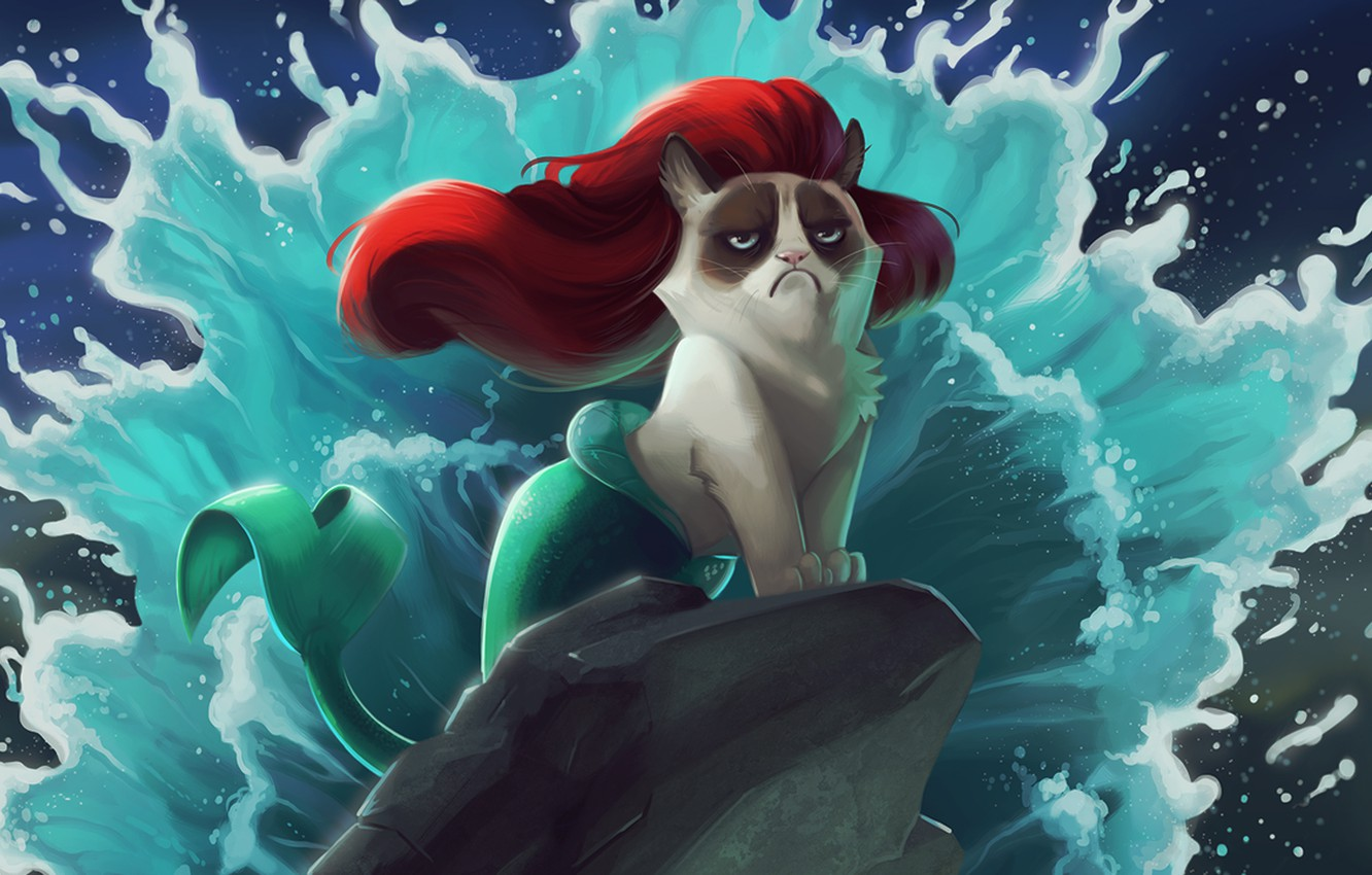 Wallpaper Cat Cartoon The Little Mermaid Images For