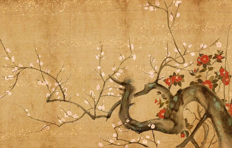 Photo wallpaper flowers, tree, Sakura