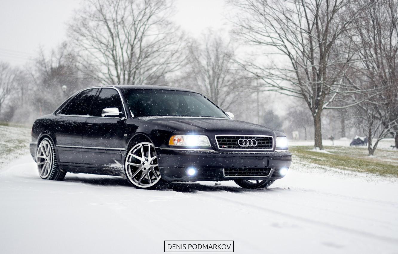Photo wallpaper Audi, winter, a8