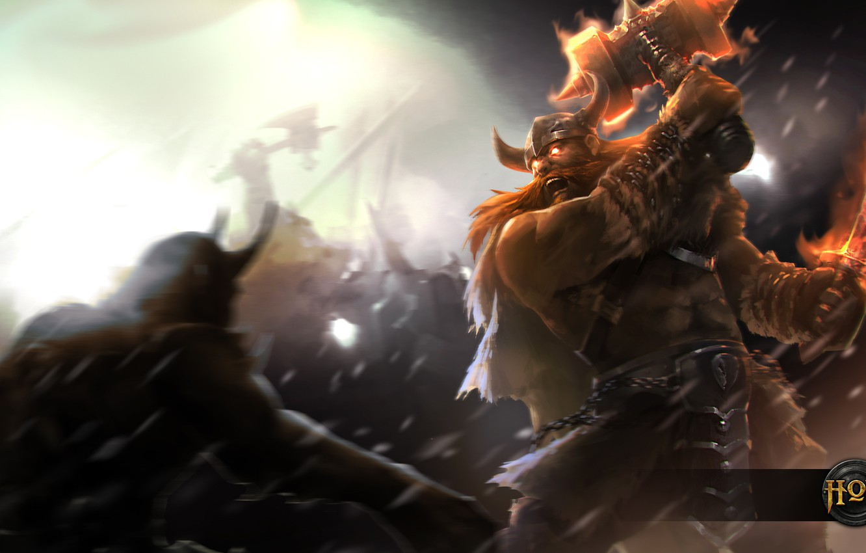 Photo wallpaper hon, Viking, Heroes of Newerth, moba, Berzerker, Erik the Red