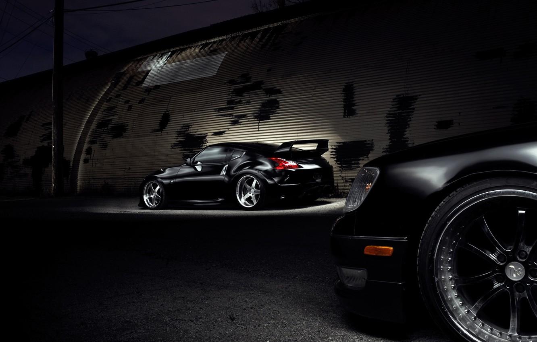 Photo wallpaper night, tuning, Nissan, nissan 370z