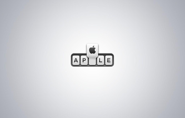 Photo wallpaper apple, Apple, logo, stub, EPL