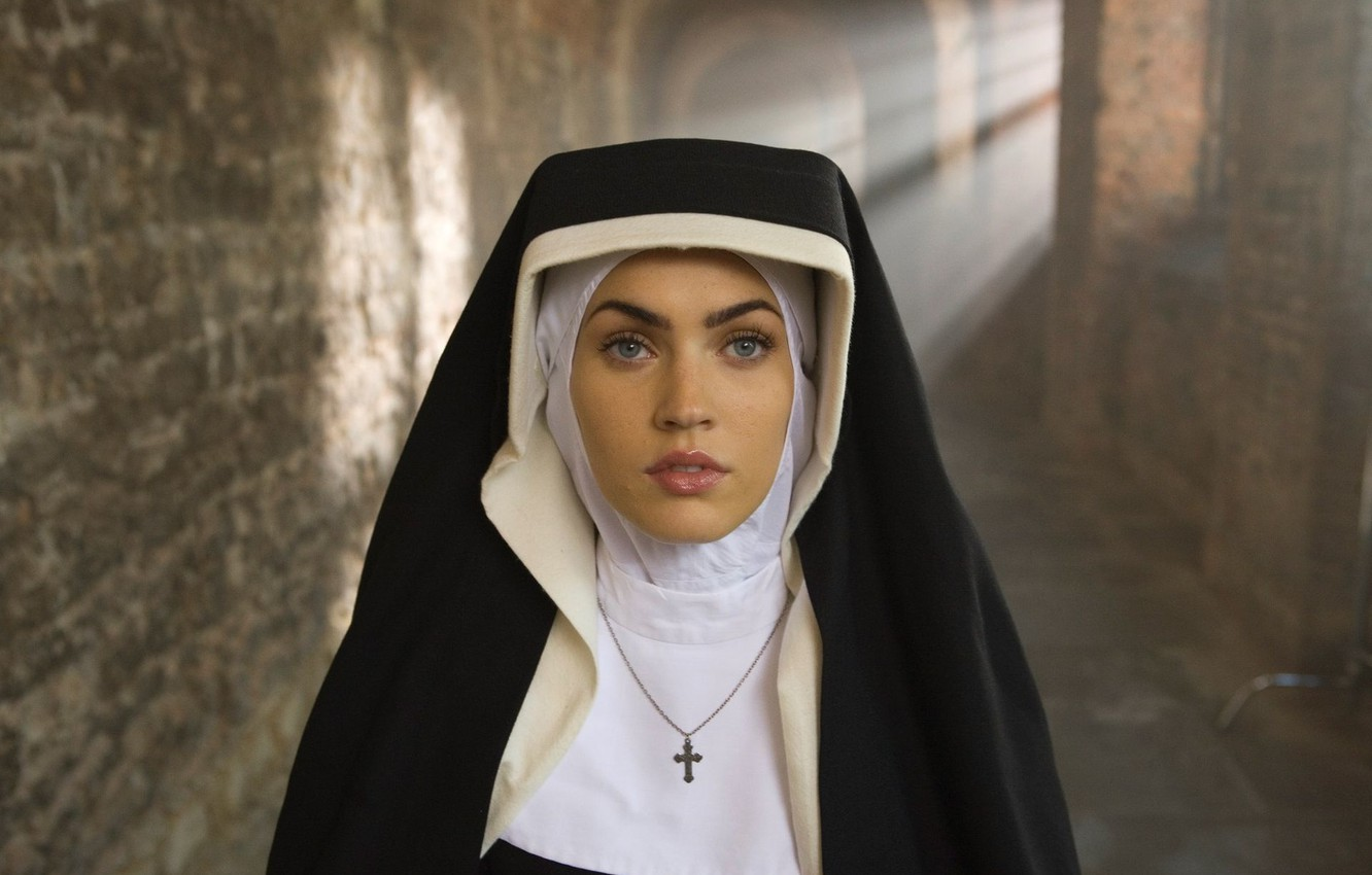 Wallpaper Megan Fox Nun Corresponds To Section Megan Fox