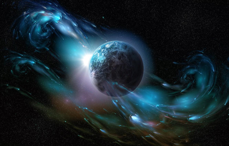 Photo wallpaper stars, planet, galaxy