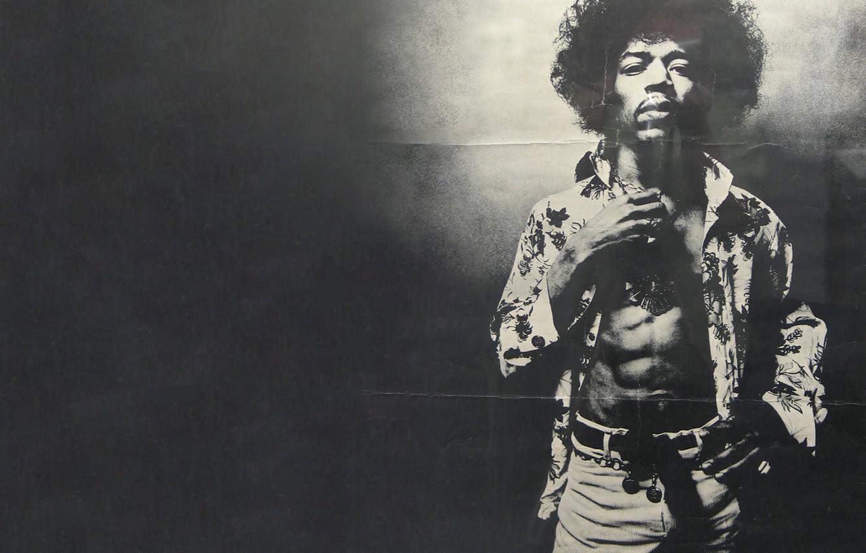 Photo wallpaper shirt, strap, black and white photo, pants, Jimi, Hendrix, Jimi, Hendricks