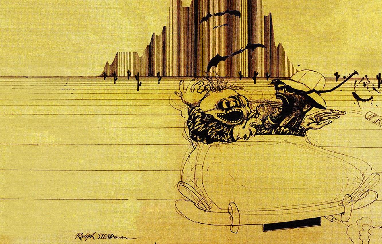 Wallpaper Ralph Steadman Hunter Thompson Fear And Loathing In
