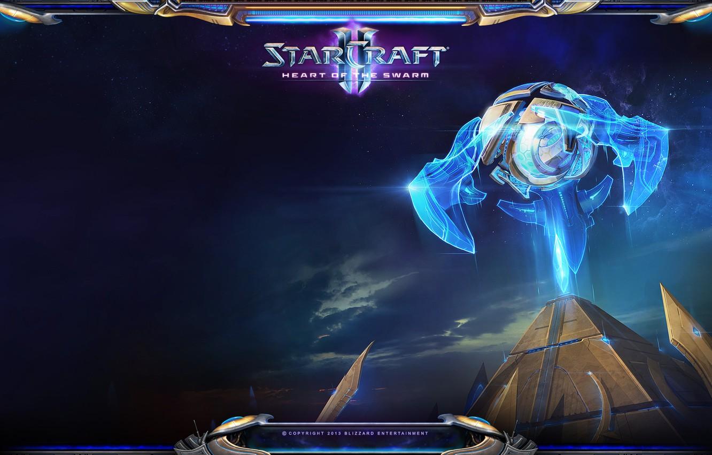 Photo wallpaper StarCraft 2, Heart of the Swarm, Protoss, The mothership core