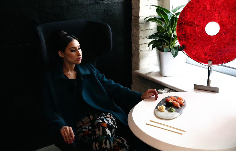 Photo wallpaper girl, restaurant, Ilona Chin, East restraint