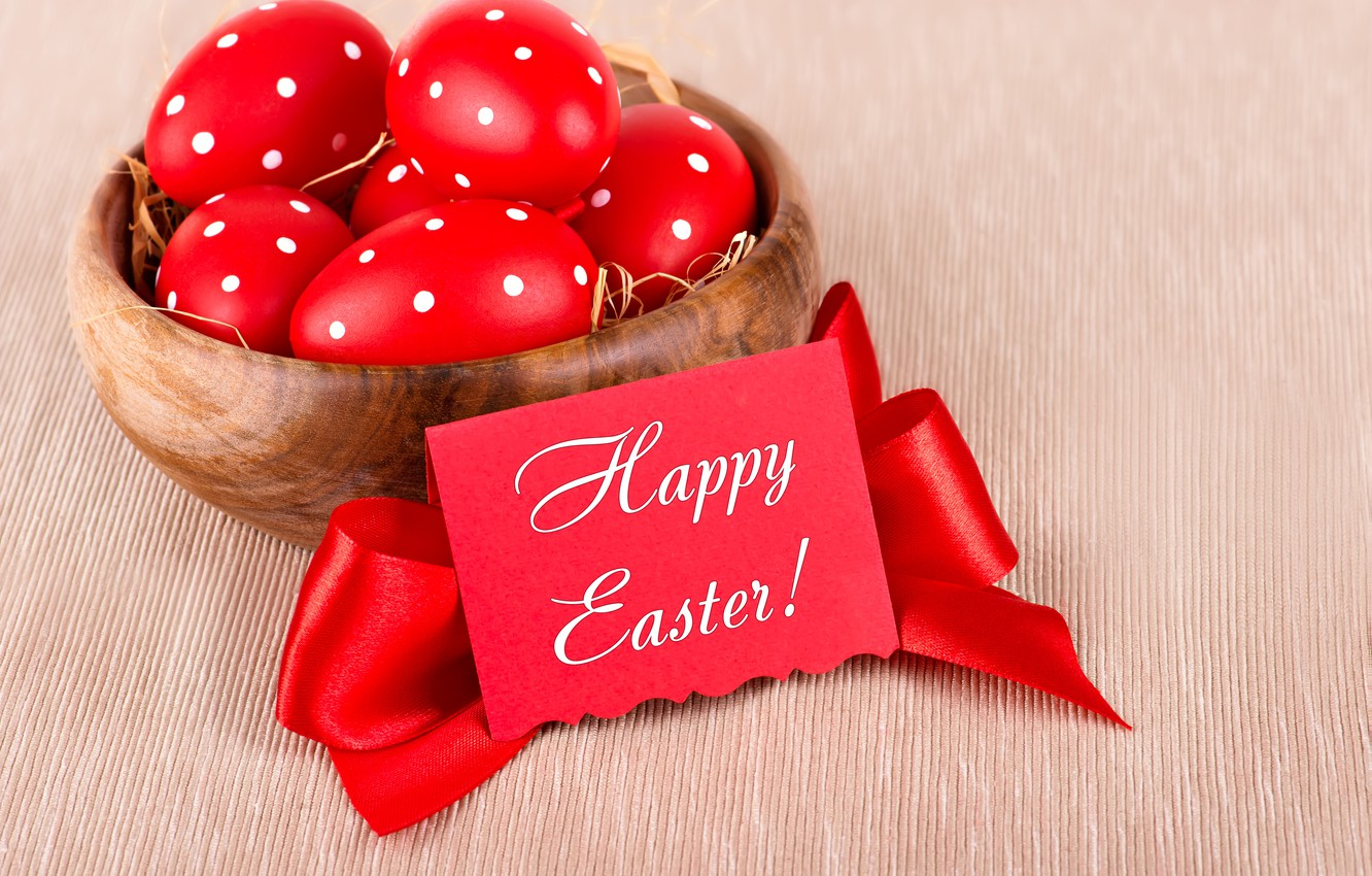 Photo wallpaper eggs, Easter, Easter, eggs, decoration, Happy
