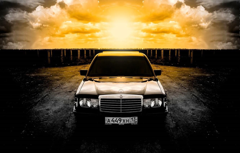 Photo wallpaper mercedes, mercedes-benz, Mercedes, gelding, Mercedes, benz, 190, w201, 190e